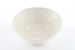 Weiße Platte auf weißem Hintergrund Lizenzfreies Stockfoto