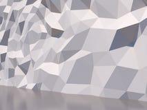 Weiße Polygonwand stock abbildung