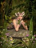 Weiße Poppy Girl-3D-Computergrafik Lizenzfreies Stockbild