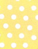 Weiße Punkte, gelber Hintergrund Lizenzfreies Stockbild