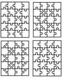 Weiße Puzzlen Lizenzfreies Stockfoto