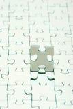 Weiße Puzzlespiele Lizenzfreies Stockbild