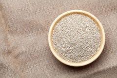 Weiße Quinoasamen Stockbild