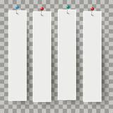 Weiße Rahmen-Fahnen-Stifte transparent Stockfoto