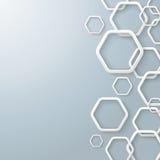 Weiße rechte Hexagone Stockfoto