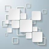 Weiße Rechteck-Quadrate Lizenzfreie Stockbilder