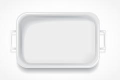 Weiße rechteckige Fiberglasdampftabelle Stockfoto