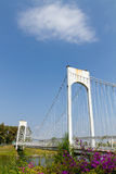 Weiße Riemenbrücke Stockbild