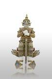 Weiße riesige Statue in Thailand lizenzfreies stockbild