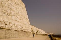 Weiße Riffe von Brighton lizenzfreies stockbild