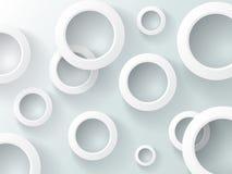 Weiße Ringe auf dem grauen Hintergrund Stockfoto