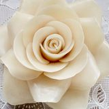 Weiße Rose Candle Lizenzfreie Stockfotos