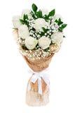 Weiße Rosen, die Blumenzusammensetzung heiraten Lizenzfreie Stockfotografie
