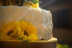 Weiße sahnige köstliche Kuchennahaufnahme Lizenzfreie Stockbilder