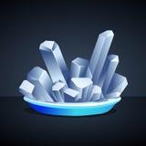 Weiße Salz-Kristalle Stockfotografie