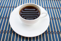 Weiße Schale coffe - Weinleseart-Effektbild Lizenzfreie Stockbilder