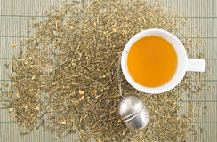 Weiße Schale grüner Tee Stockbild