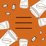 Weiße Schalen für Kaffee Stockbild