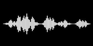 Weiße Schallwellen vektor abbildung