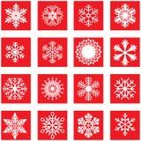 Weiße Schneeflocke Lizenzfreie Abbildung