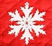 Weiße Schneeflocke Stockfotos