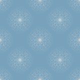 Weiße Schneeflocken Stockbild