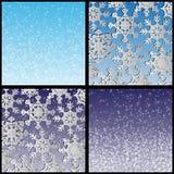 Weiße Schneeflocken Stockfotografie