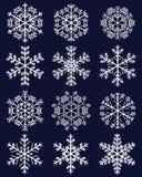Weiße Schneeflocken Lizenzfreie Stockfotografie