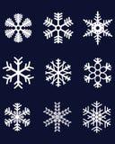 Weiße Schneeflocken 2 Lizenzfreies Stockbild