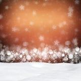 Weiße Schneeflocken auf einem blauen Hintergrund Stockbild