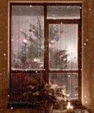 Weiße Schneeflocken auf einem blauen Hintergrund Abstraktes Hintergrundmuster der weißen Sterne auf dunkelroter Auslegung Rasterv Lizenzfreies Stockbild