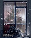Weiße Schneeflocken auf einem blauen Hintergrund Abstraktes Hintergrundmuster der weißen Sterne auf dunkelroter Auslegung Rasterv Lizenzfreie Stockbilder