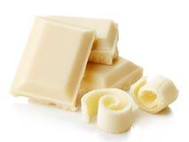 Weiße Schokolade stockbild