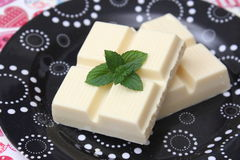 Weiße Schokolade lizenzfreie stockbilder