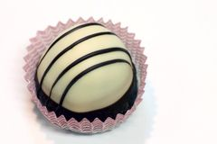 Weiße Schokoladen-Trüffel Stockfotografie