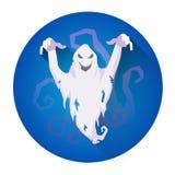 Weiße Schreckens-Geist-Halloween-Feiertags-Ikone Lizenzfreies Stockbild