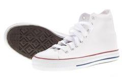 Weiße Schuhe Stockfotografie
