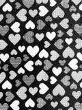 Weiße schwarze Wand der Herzliebe Lizenzfreie Stockfotos