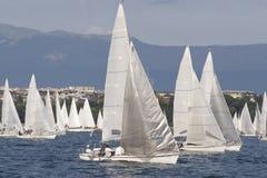 Weiße Segel Stockbilder