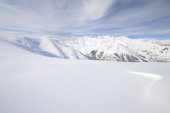 Weiße Skisteigung Stockbilder