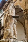 Weiße Skulpturstatue von Herkules und von Cacus, durch Baccio Bandinel Lizenzfreie Stockbilder