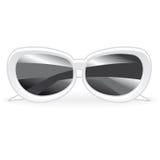 Weiße Sonnenbrille Stockfoto