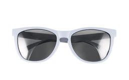 Weiße Sonnenbrillen lokalisiert lizenzfreie stockbilder
