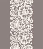 Weiße Spitze Nahtloses mit Blumenmuster Lizenzfreie Stockfotografie