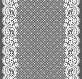 Weiße Spitze Vertikales nahtloses Muster Lizenzfreie Stockfotos