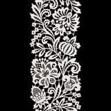 Weiße Spitze Vertikales nahtloses Muster Stockfotografie