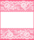 Weiße Spitzekarte Stockbilder