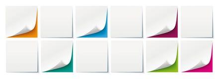 Weiße Stöcke färbten Hintergrund-Brett-Titel stock abbildung