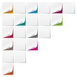 Weiße Stöcke färbten Hintergrund-Bretter stock abbildung