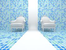Weiße Stühle Lizenzfreies Stockfoto